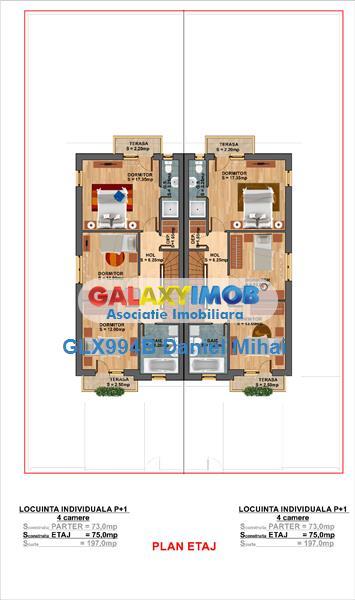 Ansamblu rezidential-Case 4 camere-finisaje premium