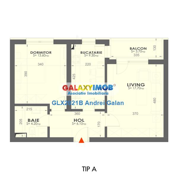 Apartament 2 camere Plaza Residence faza 3