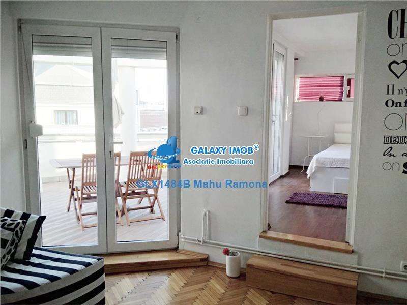 Apartament 3 cam., cu terasa 26 mp, Romana - Victoriei