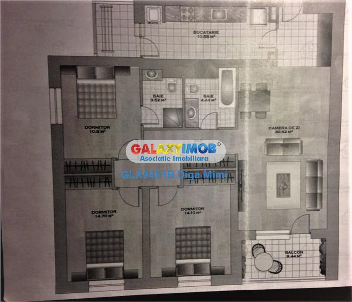 Apartament 4 camere cu loc parcare de inchiriat Vitan Platinum Towers