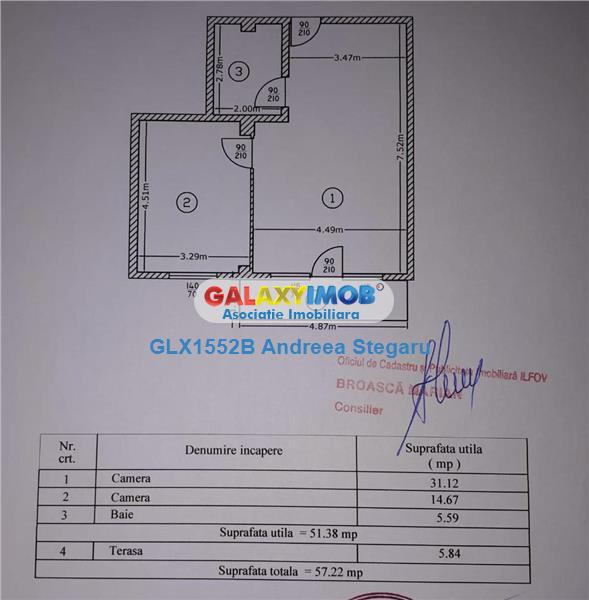 Apartament cu 2 camere de vanzare in Militari Residence - Rezervelor