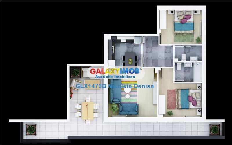 Apartament cu 2 camere si loc de parcare inclus.