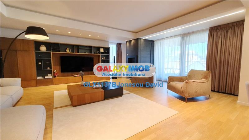 Apartament deosebit Aviatorilor, 200 mp utili, terase 38 mp, 2 parcari
