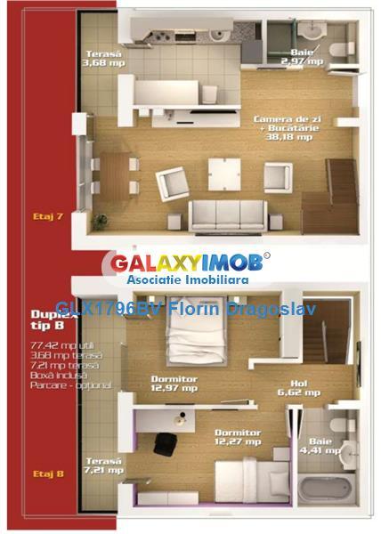 Apartament duplex, 3 camere, 2 nivele, 2 bai  in Avantgarden 3