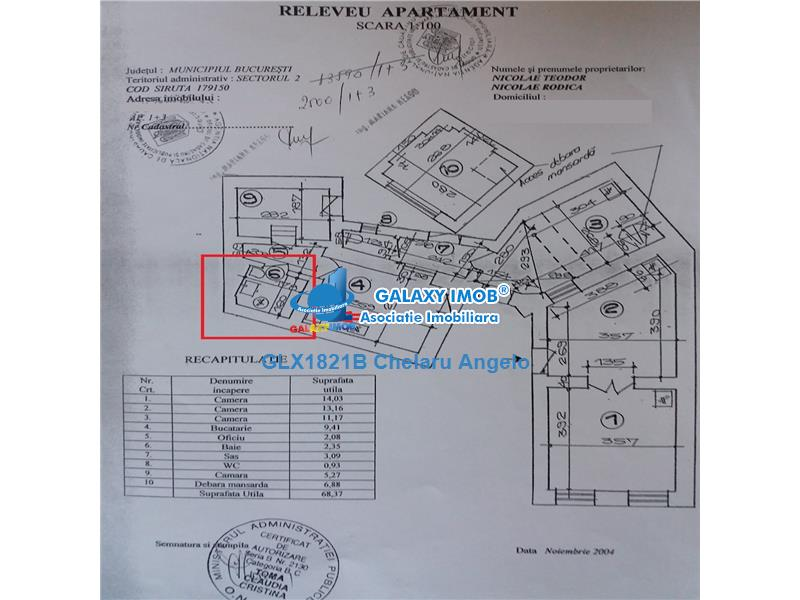 Bdul Carol I,Mosilor,ap 3 camere,suprafata 90 mp,utili70 mp,investitie