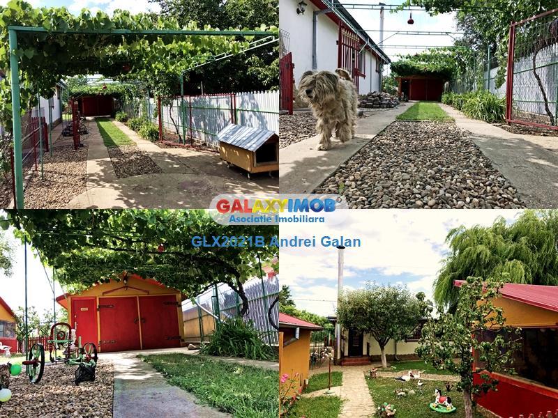 CASA/CABANUTA de vanzare cu INTERIOR RUSTIC comuna Tudor Vladimirescu
