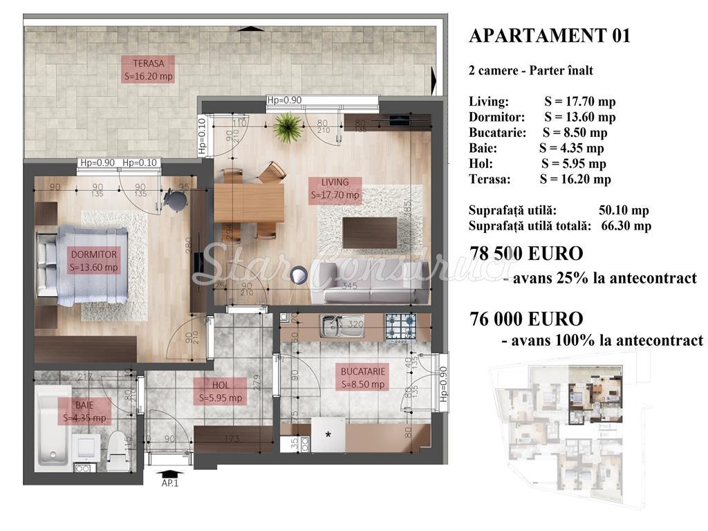 Imobil Nou Apartament Aproape de Mall si Metrou !!