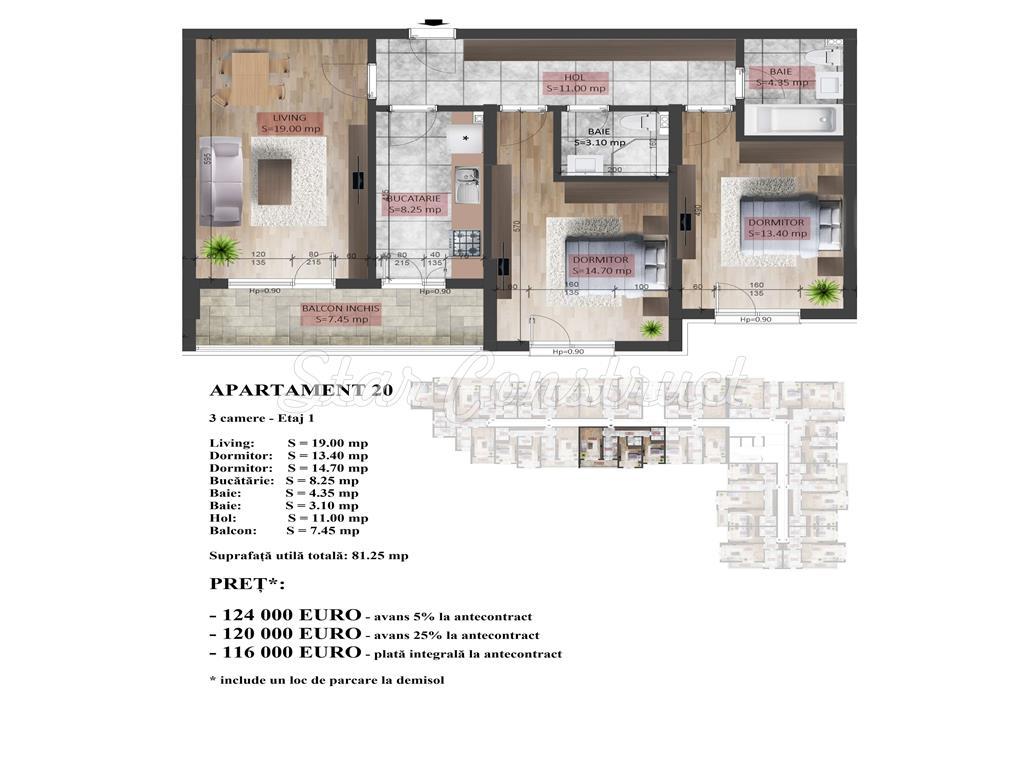 Apartament 3 camere decomadat 5 min Metrou Dristor!