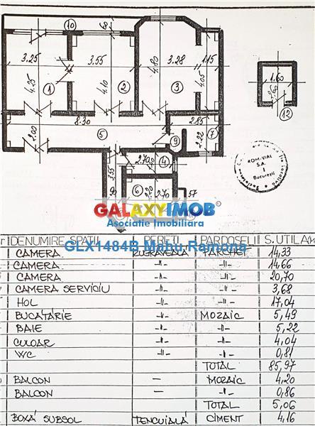 Apartament 3 camere, deosebit, boem, bloc interbelic