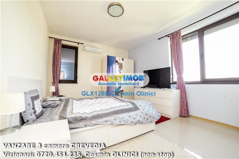 Vanzare apartament 3 camere BUFTEA - CREVEDIA - bloc nou, premium