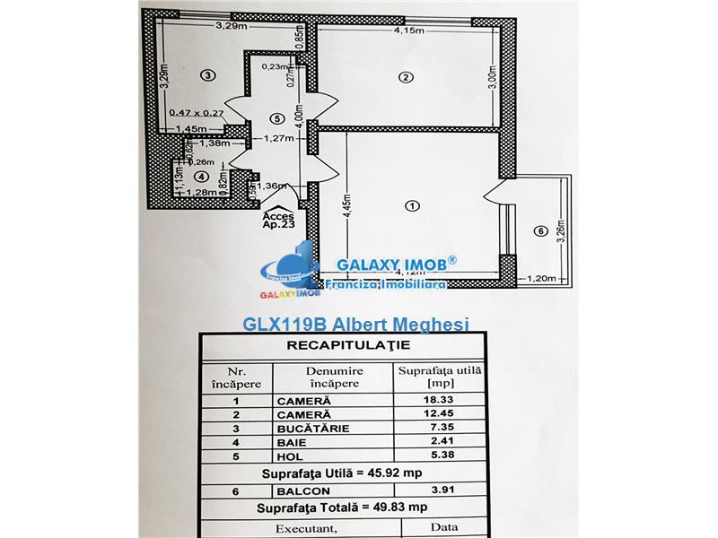 Vanzare Apartament 2 Camere Basarabia Baia de Arama Totul Nou