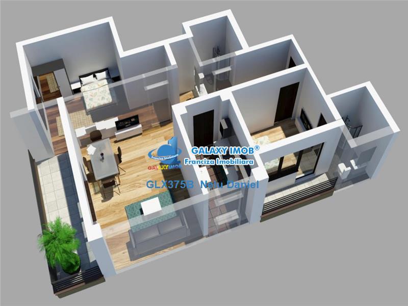 Apartament 3 camere Barbu Vacarescu - Bloc nou