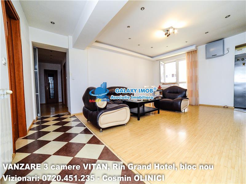 VANZARE 3 camere VITAN-Barzesti, RIN Grand Hotel, bloc nou.