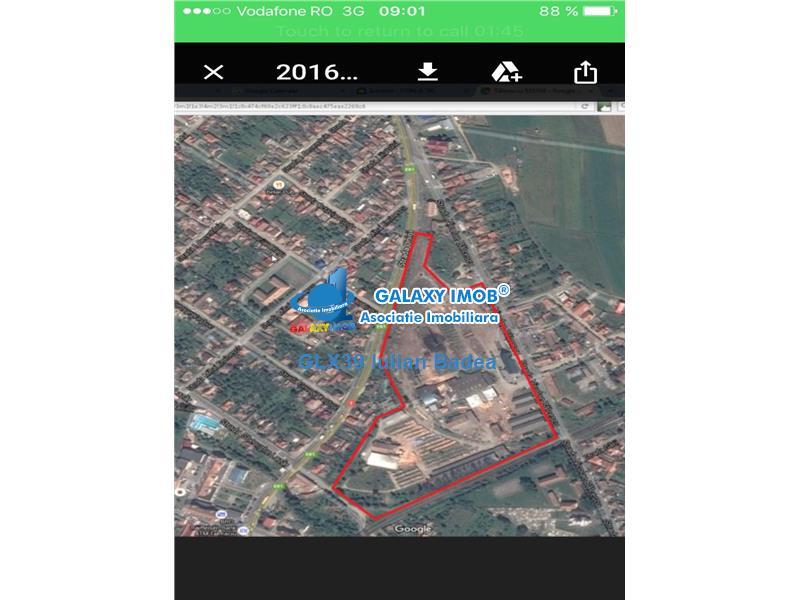 Teren 30 000 mp - hala 2000 m - intravilan parcelabil Talmaciu - Sibiu