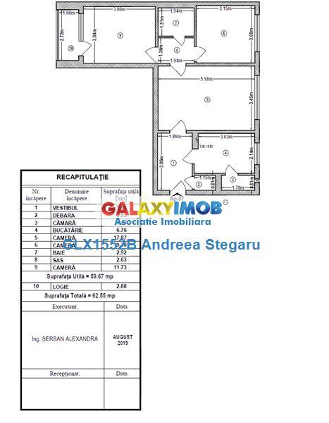 Apartament 3 camere de vanzare Drumul Taberei/ Aleea Dealul Macinului