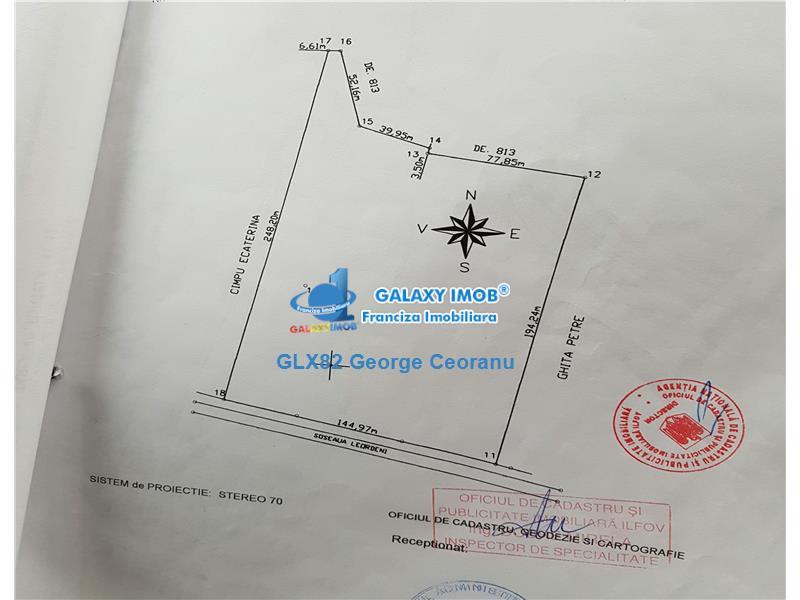 Vanzare teren intravilan stradal  sos Leordeni Baduc 32000mp