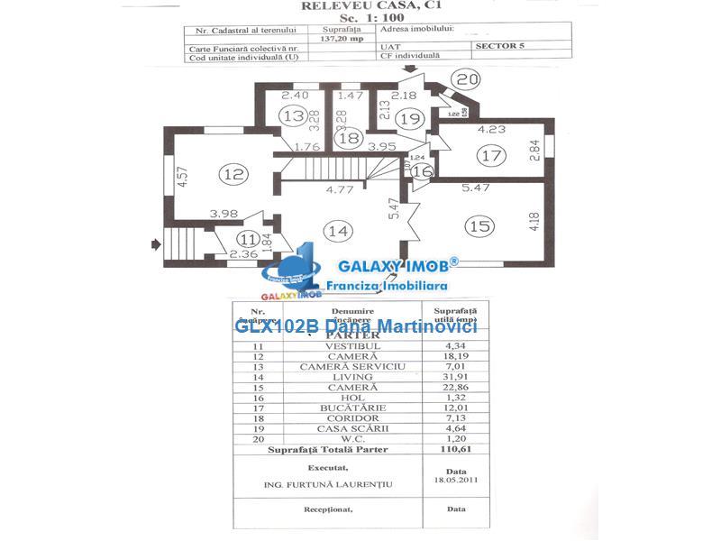 Inchiriere vila 6 camere, S+P+1+M, Cotroceni.