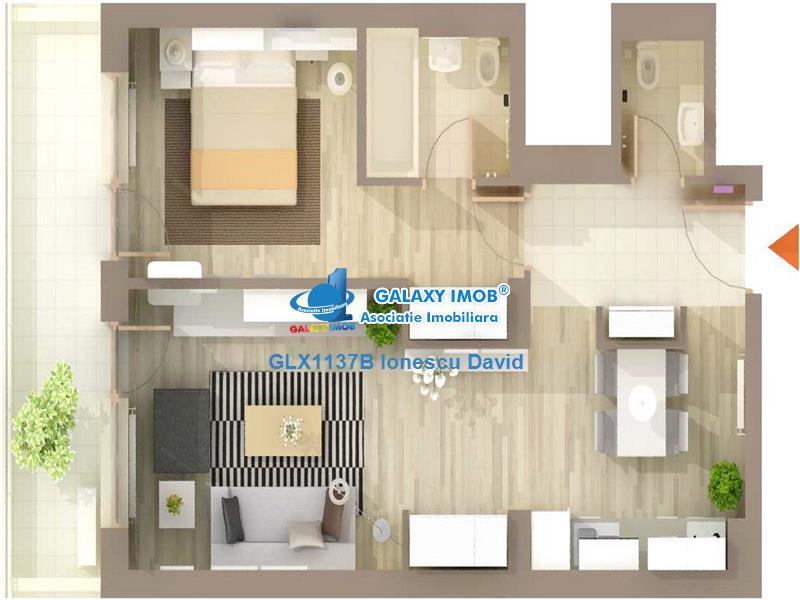 Apartament modern cu parcare, termen scurt sau lung, Baneasa Zoo