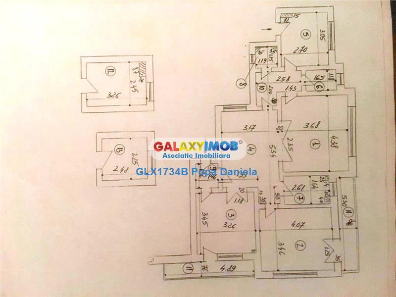 Apartament 3 camere,80 mp si anexe, 55000 eur, Stefan cel MareLizeanu