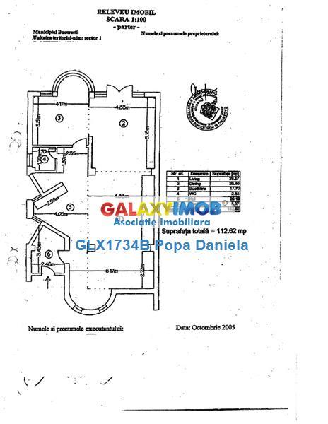 Vila individuala, D+P+1+M, 7 camere, Domenii  Mihalache
