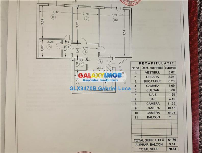 Vanzare apartament 3 camere 71 mp | Berceni - Uioara | Bloc Reabilitat