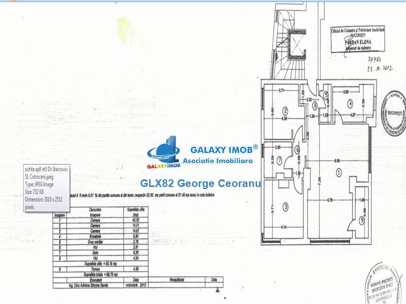 Inchiriere apartament 3 camere  bloc nou Cotroceni Arenele BNR