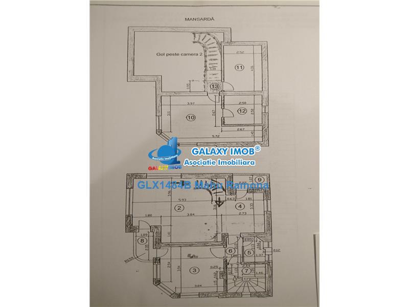 Inchiriere ap. 4 cam. in vila (etaj si mansarda) Domenii - Expozitiei