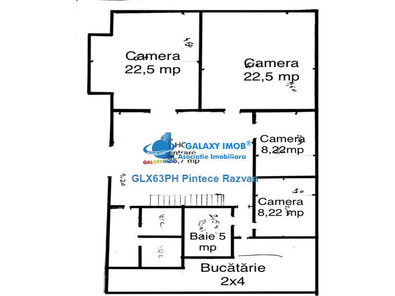 Inchiriere spatiu 5 camere, 130 mp, parter, ultracentral, Ploiesti