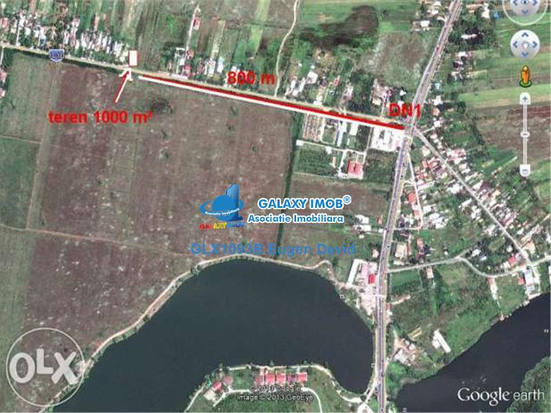 Snagov-Tancabesti, Teren 8600mp, la sosea, gaze, curent electric
