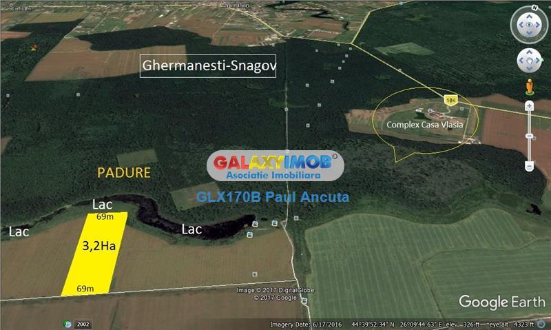 Teren Snagov Ghermanesti Lac imprejmuit de Padure 32000 mp