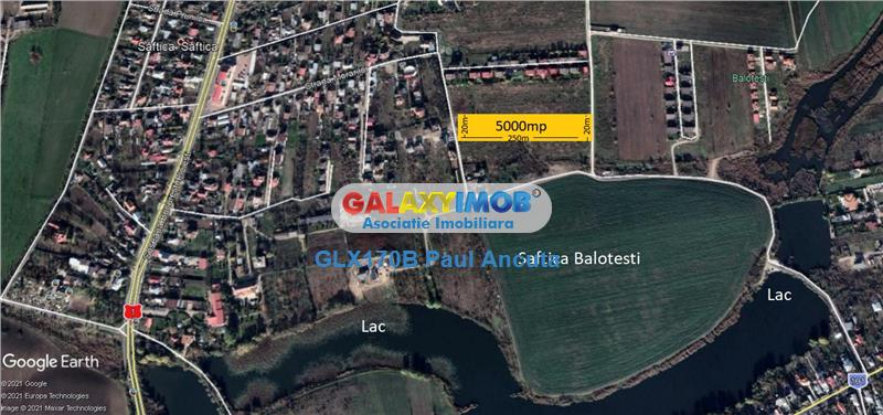 Teren  Saftica Balotesti str Morarilor 5000 mp sosea canalizare