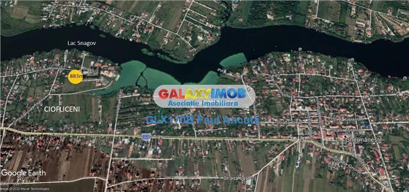 Teren 883 mp Ciofliceni str Bisericii la 100 m de Lac Snagov