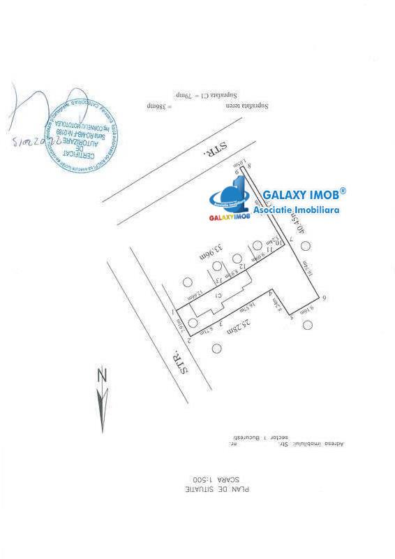 Teren cu casa demolabila/renovabila/caramida forma L Metrou 1 Mai