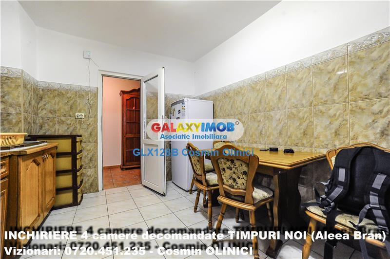 Tur virtual! Inchiriere 4 camere, decomandat, TIMPURI NOI (Aleea Bran)