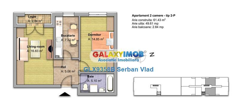 Vand apartament  3 camere,2 bai ,  parcare Gratuit!!