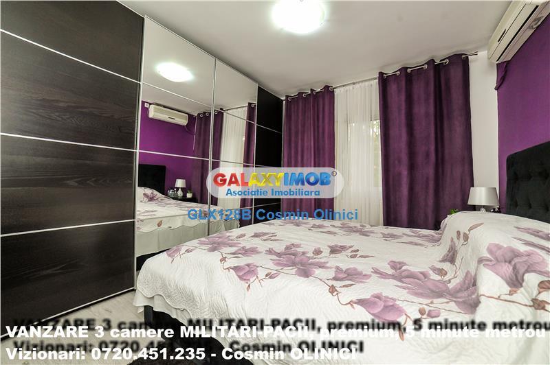 VANZARE 3 camere MILITARI-PACII-5 min. metrou-loc parcare-semi mob/ut