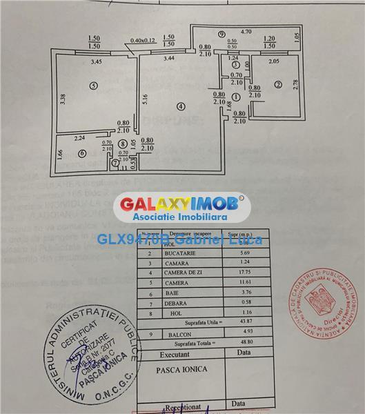 Vanzare apartament 2 camere - mobilat - B.dul Ion Mihalache - 1Mai