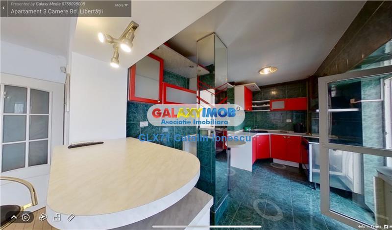 Vanzare apartament 3 camere Bd Libertatii rond Cosbuc