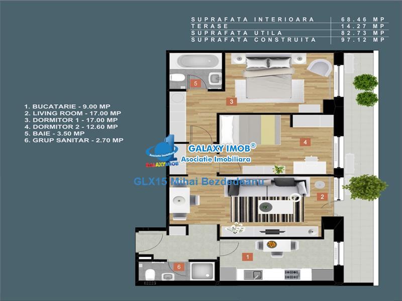 Vanzare apartament 3 camere in zona Baneasa - Jandarmeriei.