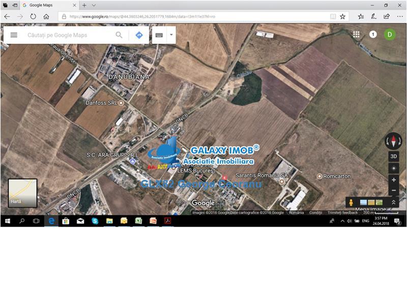 Vanzare teren 10000mp soseaua Oltenitei Centura deschidere 48m