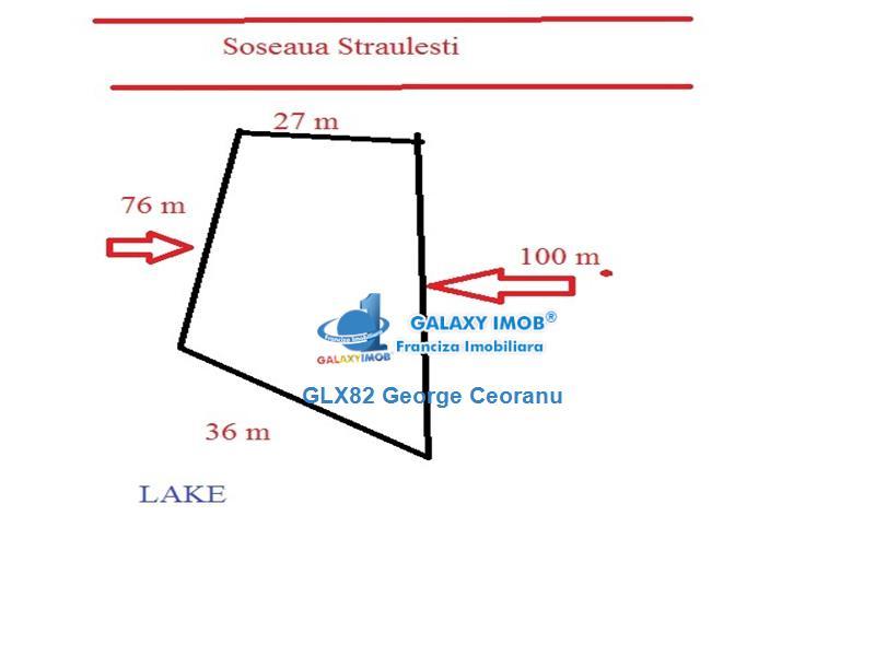 Vanzare teren   2250mp Baneasa Straulesti deschidere lac