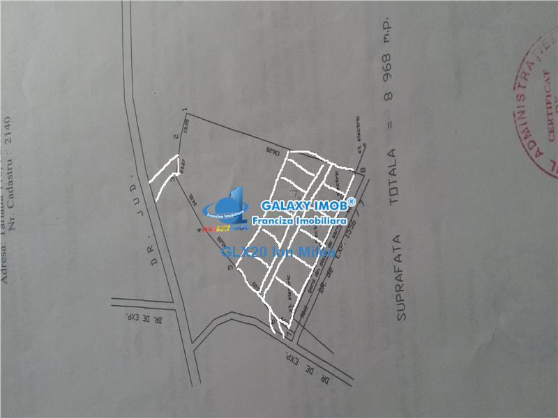Vanzare teren 8900  Adunatii Copaceni -  Varlaam .