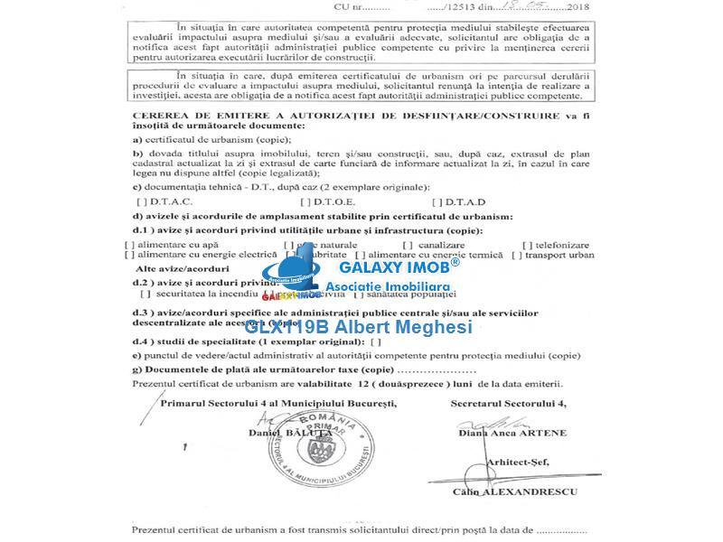 Vanzare Teren Intravilan 905 mp Mihai Bravu Autoklass POT 70% CUT 4,5%