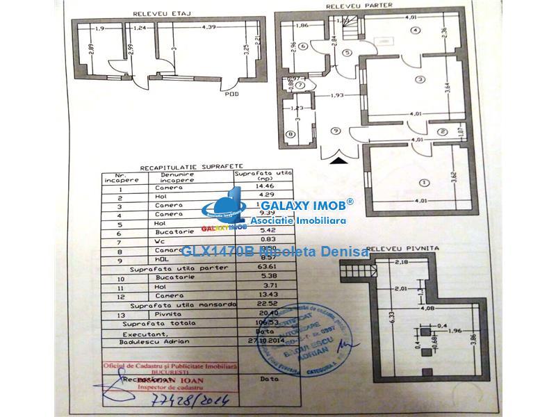 Vila cu 4 camere si curte individuala de 30 mp, Dorobanti-Floreasca