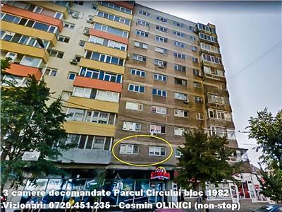 3 camere decomandate Parcul Circului bloc 1982