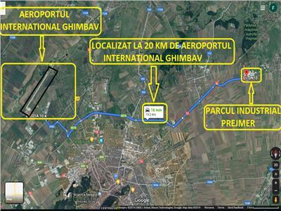 7663 mp de teren de vanzare in parcul industrial prejmer