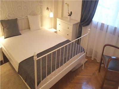Apart 2 camere lux Cismigiu - Sala Palatului,mobilier nou,parter inalt