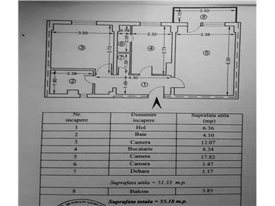 Apartament 2 camere, decomandat, bloc 1986, zona centrala, ploiesti
