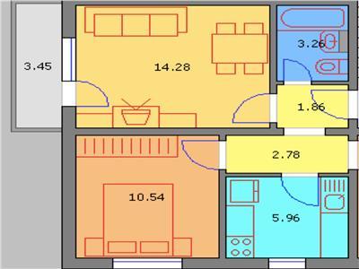 Apartament 2 camere, decomandat, renovat recent, vest, ploiesti