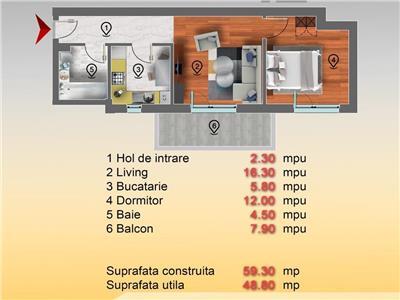 Apartament 2 camere et 2 din 3 Sos Chitilei Str Marmurei